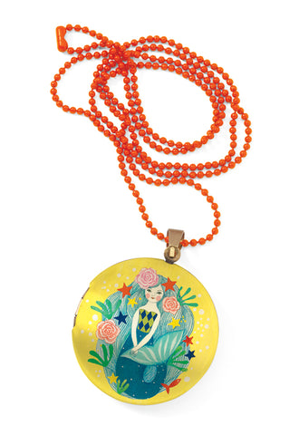 Djeco Lovely Charms Mermaid Locket Necklace