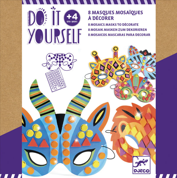 Djeco Do It Yourself Jungle Animal Masks