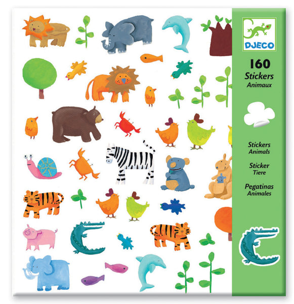Djeco Stickers Animals 160pc