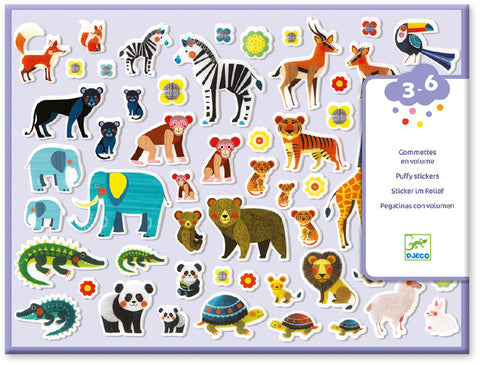 Djeco Mother's and Babies Puffy Stickers