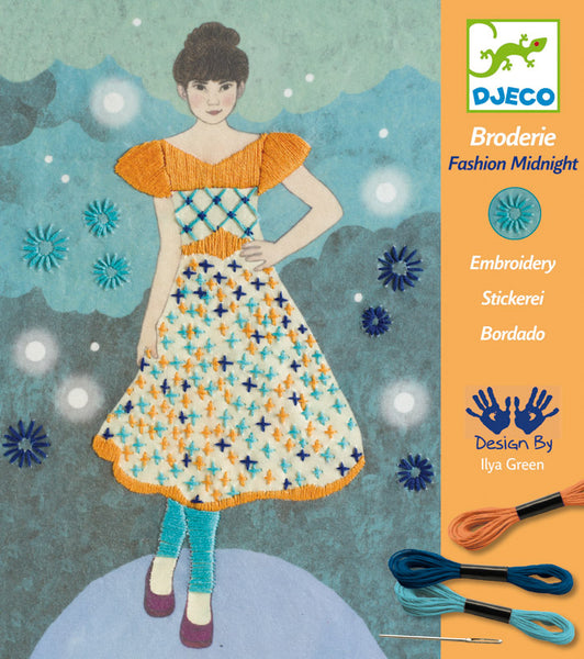 Djeco Fashion Embroidery Midnight