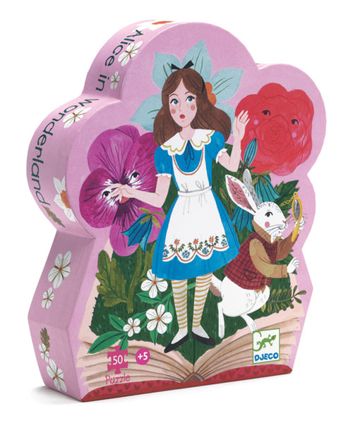 Djeco Alice in Wonderland  Silhoette Puzzle 50pce