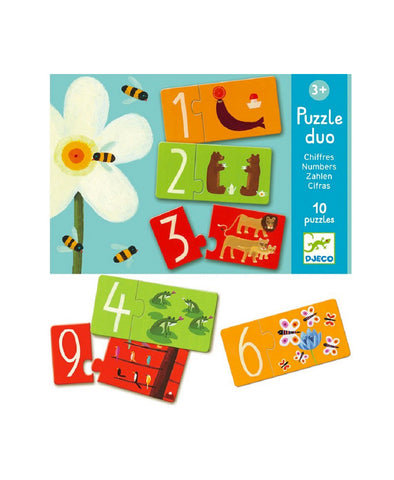 Djeco Duo Numbers 20 Pce Puzzle