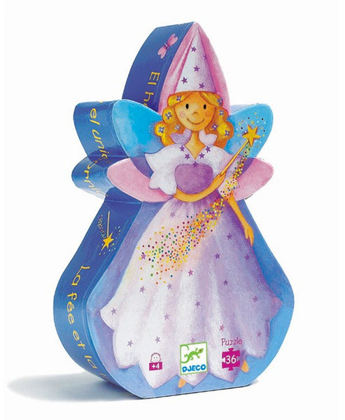 Djeco Fairy and Unicorn Silhouette 36 Piece Puzzle