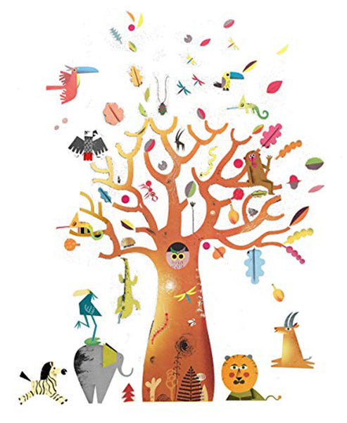 Djeco Removable Wall Stickers Baobab