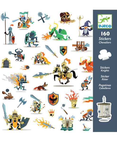 Djeco Stickers Knights 160pc