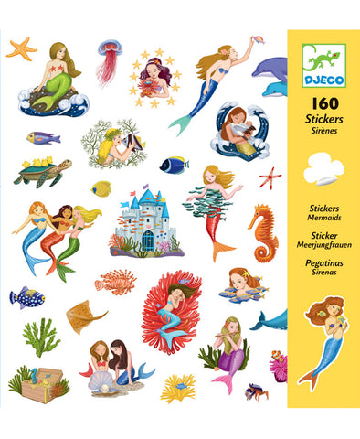Djeco Stickers Mermaids160pc