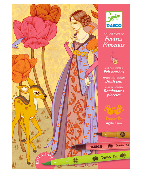 Djeco Unicorn and Fairy Tales and Legends Felt Tips