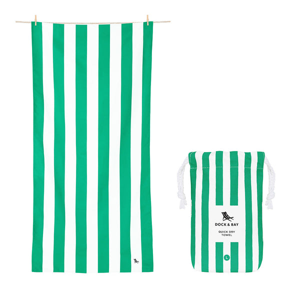 Dock and Bay Beach Towel Cabana Collection L: Cancun Green