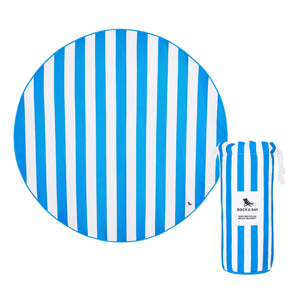 Dock and Bay Beach Towel Round Collection : Bondi Blue