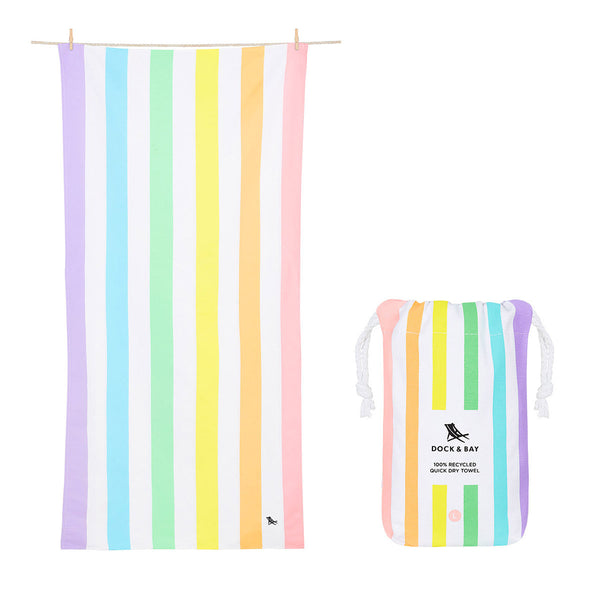 Dock and Bay Beach Towel Summer Collection L: Unicorn Waves