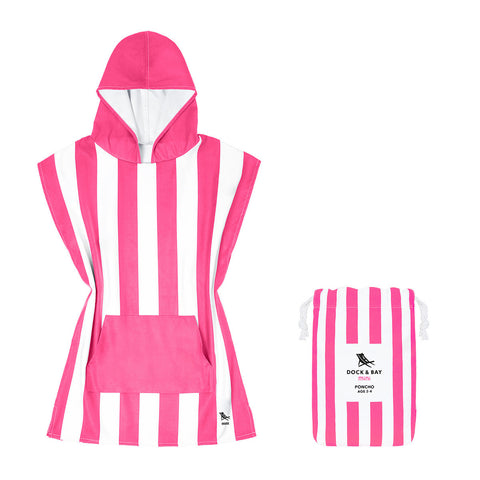 Dock and Bay Poncho Mini Cabana Collection: Phi Phi Pink