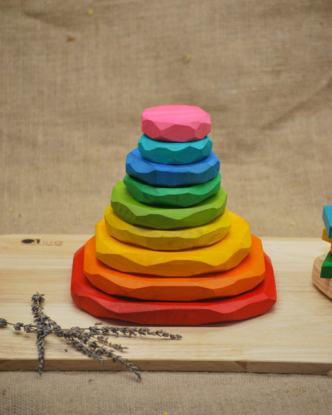 QToys Coloured Stacking Stones