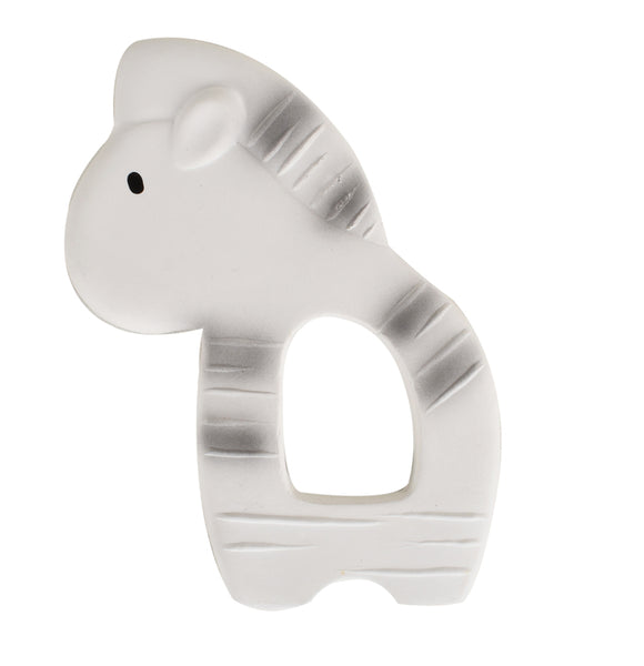 Tikiri Zebra Flat Rubber Teether