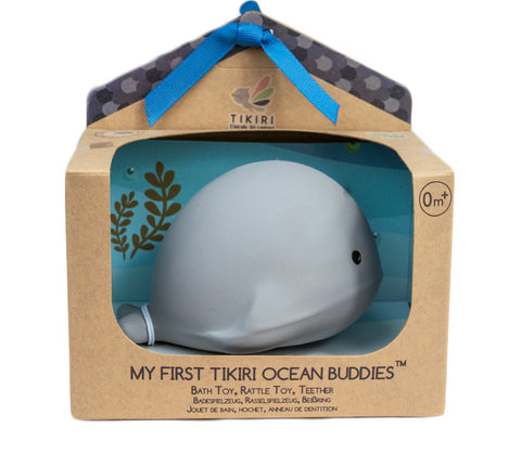 Tikiri Whale Ocean Buddy Rattle Teether - Boxed