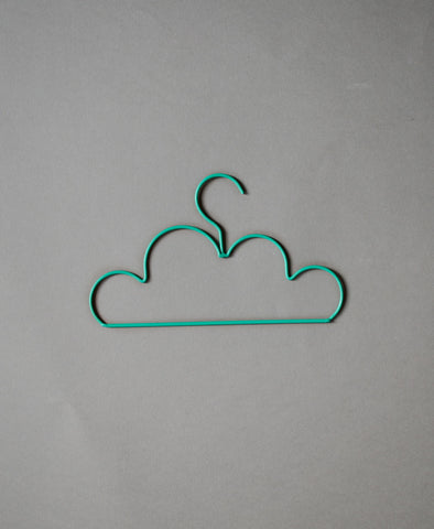 Down to the Woods Cloud Coat Hanger Child - Forest Green