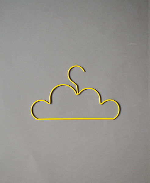 Down to the Woods Cloud Coat Hanger Child - Yellow