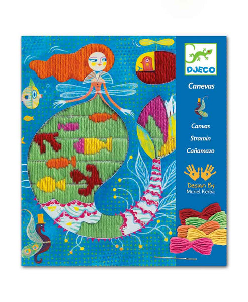 Djeco Canvas Wool Dropstitch Mermaid