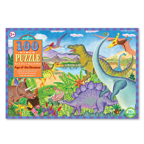 Eeboo 100 Piece Jigsaw Puzzle Age of the Dinosaurs