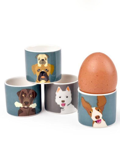 Burgon and Ball The Rabble Dog Egg Cups, Set of 4