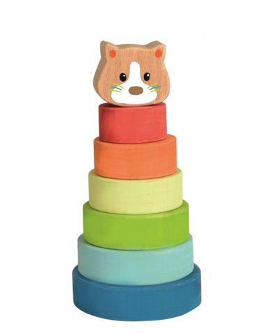 Egmont Pyramid Wooden Stacking Cat