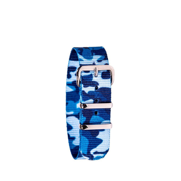 EasyRead Time Teacher Replacement Watch Strap: Blue Camo