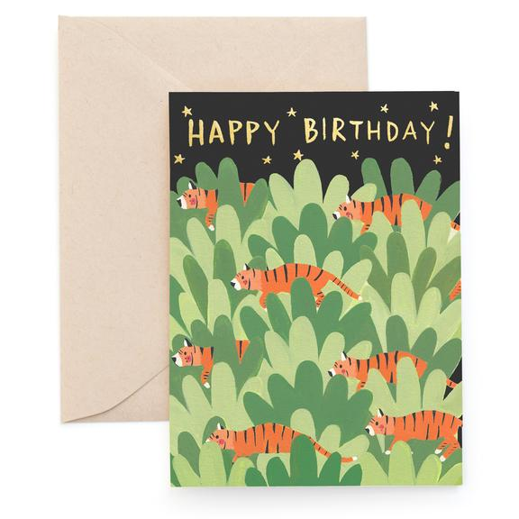 Carolyn Suzuki Panthera Tigris Tiger Birthday Card