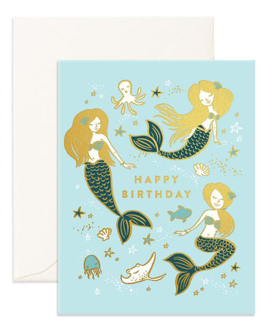 Fox & Fallow Birthday Mermaids Foil