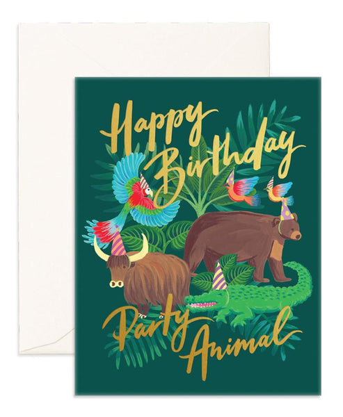 Fox & Fallow Party Animals Card