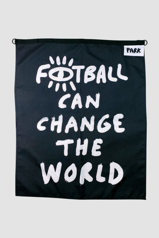 Park Social Canvas Flag - Football Can Change The World.