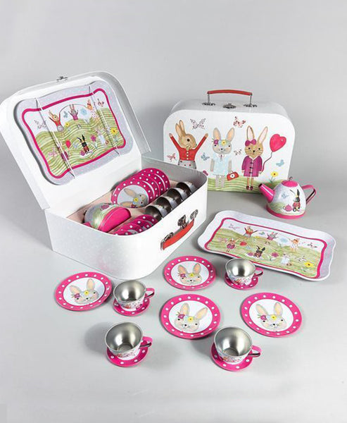 Floss and Rock Rabbit Tin Teaset 15pce
