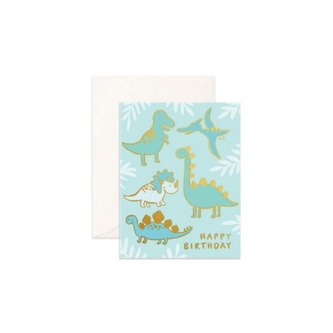 Fox & Fallow Birthday Dinos FOIL Card