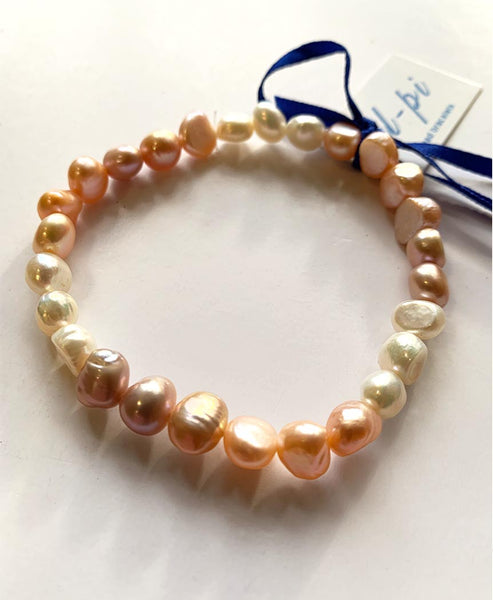 Elpida Elastic Bracelt Colour Fresh Water Pearls