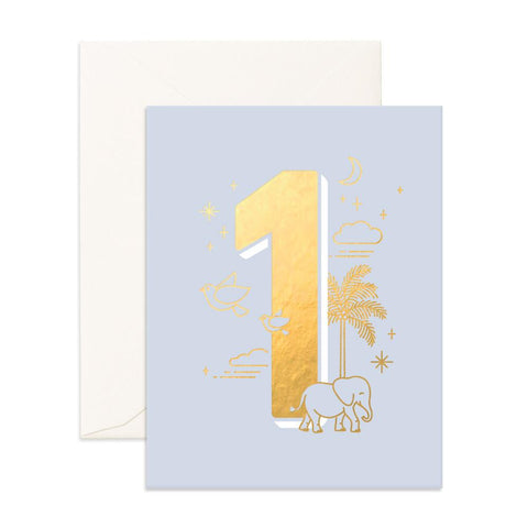 Fox & Fallow Number 1 Animals Birthday Card