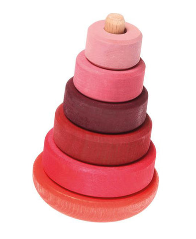 Grimm's Spiel and Holz Wobbly Stacking Tower Pink