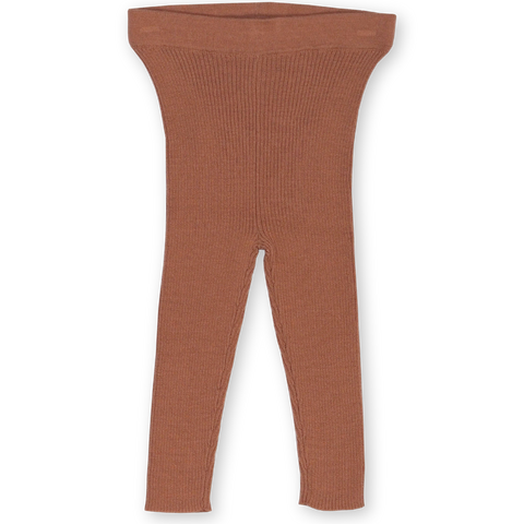 Grown Clothing Ribbed Essential Leggings: Terracotta