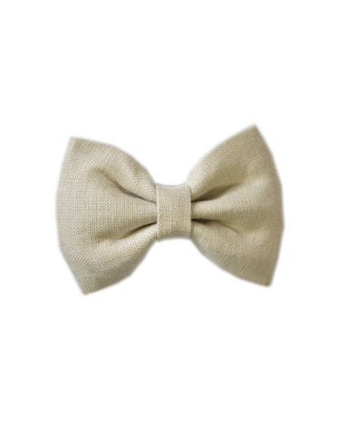 Pretty Wild Georgie Single Bow Natural Linen