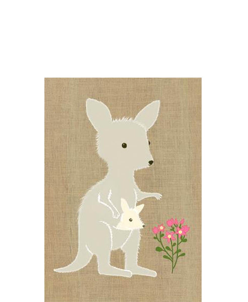 Gillian Mary Super Cute Card Kangaroo and Joey
