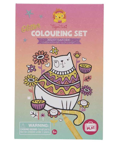 Tiger Tribe - Glitter Colouring Set Night Garden
