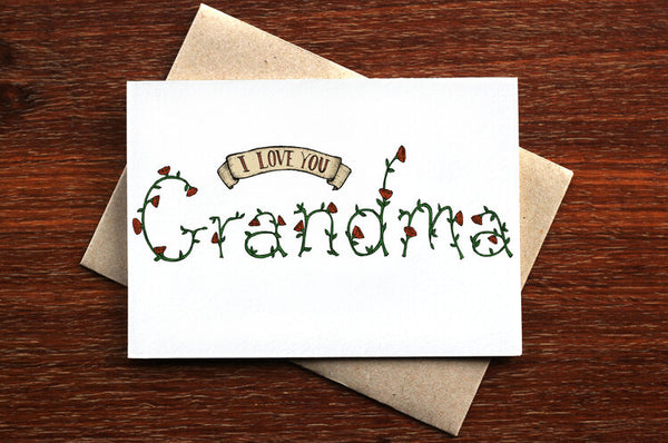 The Nonsense Maker I Love You Grandma Card