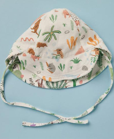 Halcyon Nights Reversible Sun Hat Outback Dreamers - One Size