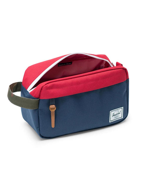 Herschel Chapter Navy/Red/Woodland Camo Toiletry Bag / Pencil Case