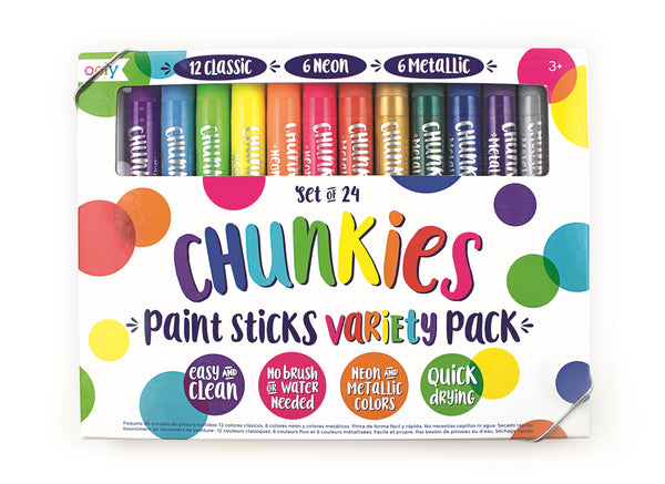 Ooly Chunkies Classic Paint Sticks 24 Pack
