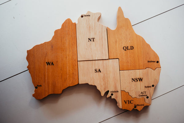 QToys Australian Map Puzzle Play Set