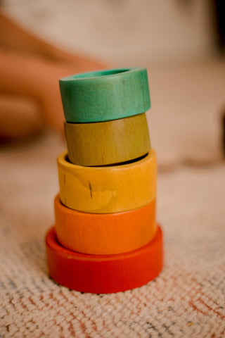 QToys Bamboo Stacking Rings
