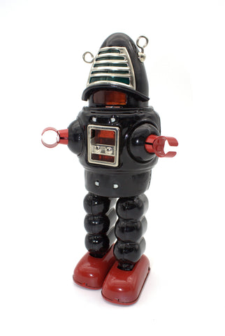 Planet Robot Wind Up Mechanical Robot Black