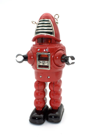 Planet Robot Wind Up Mechanical Robot Red