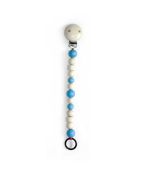 Hess-Spielzeug Pacifier Holder Light Blue
