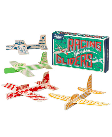 Ridley's Set Of 4 Racing Wooden Gliders