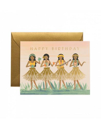 Rifle Paper Co. Hula Birthday Card